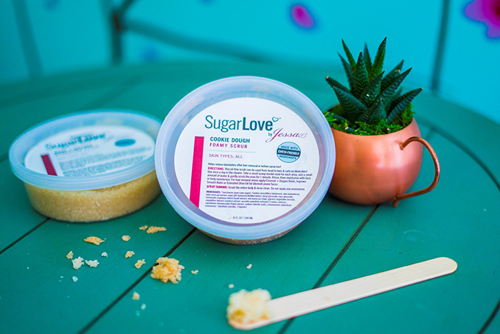 sugarlove, sugar wax, womens wax, sugaring near me, sugaring georgia, blog, Gentle exfoliating product, benefits, sugarlove, foamy scrub, blemishes, ingrown hair, acne, cleanse, pores, MKP Waxing Salon, Columbus, Georgia
